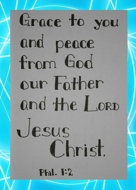 Scripture Writing, Philippians 1:2