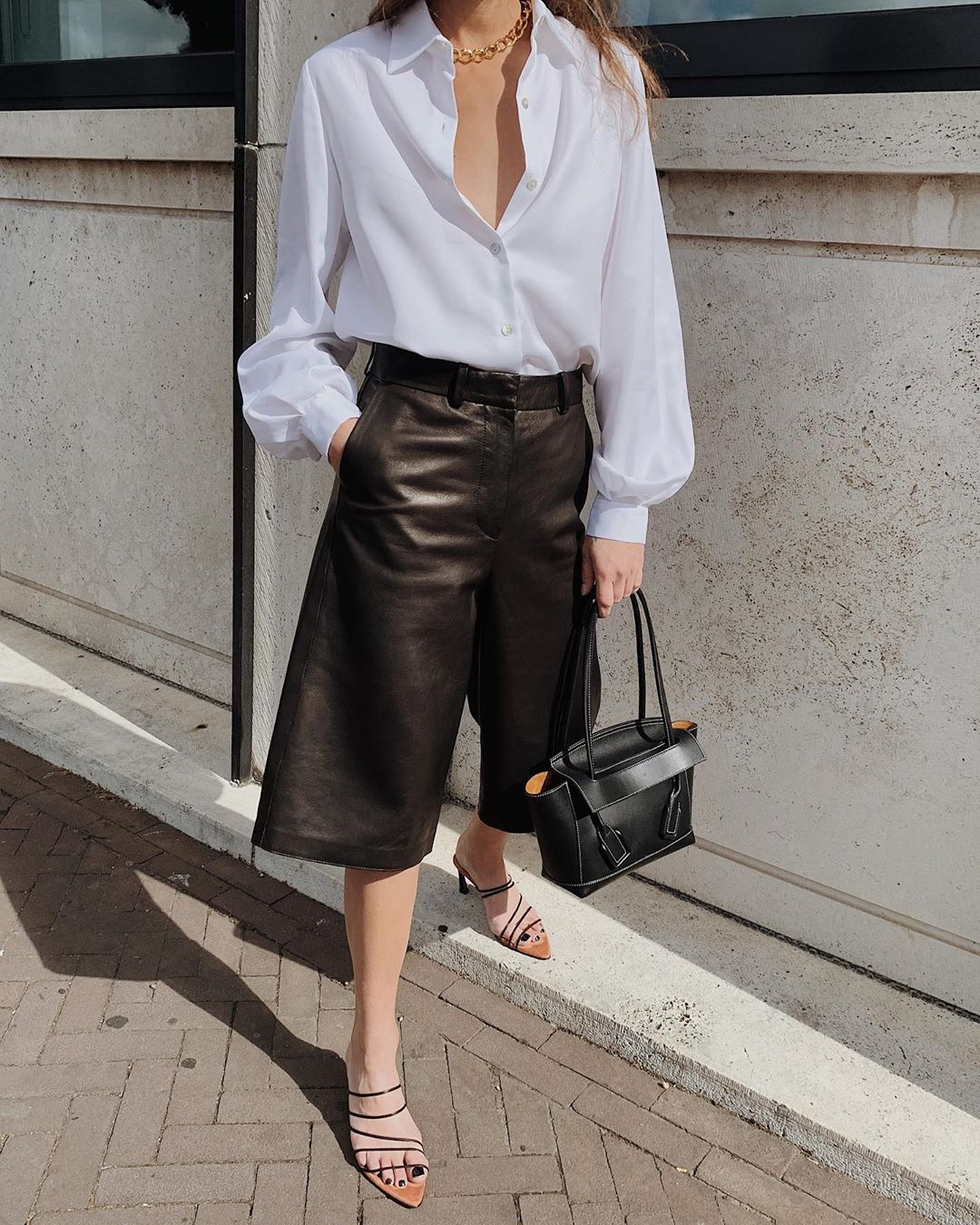 Shop The Biggest Trend Of The Season – Long Leather Shorts