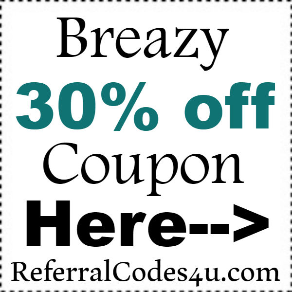 Breazy Discount Codes 2016-2021, Breazy Free Shipping Coupon October, November, December