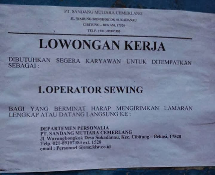 Loker Di Probolinggo 2013 Info Terbaru 2016 Info Harian Terbaru Loker Di Karawang Newhairstylesformen2014