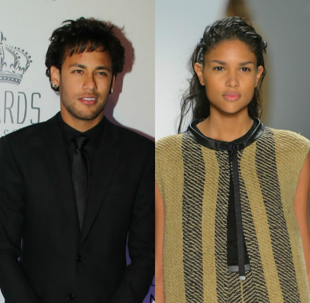 Neymar menggaet model cantik Caroline Caputo
