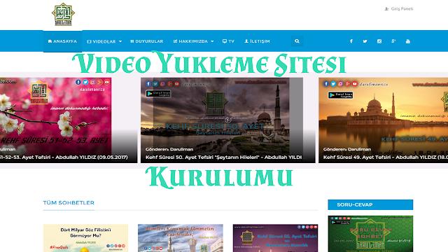 video sitesi kurulumu