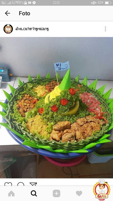 gambar nasi tumpeng catering malang