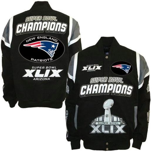 New England Patriots Super Bowl XLIX Twill Jackets