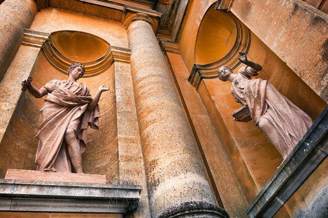 The warm Cotswold stone shapes these statues at Blenheim Palace by Martyn Ferry Photography