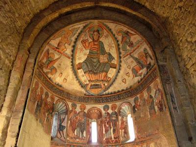 Pinturas romanicas en la Colegiata de Santa Maria de Mur
