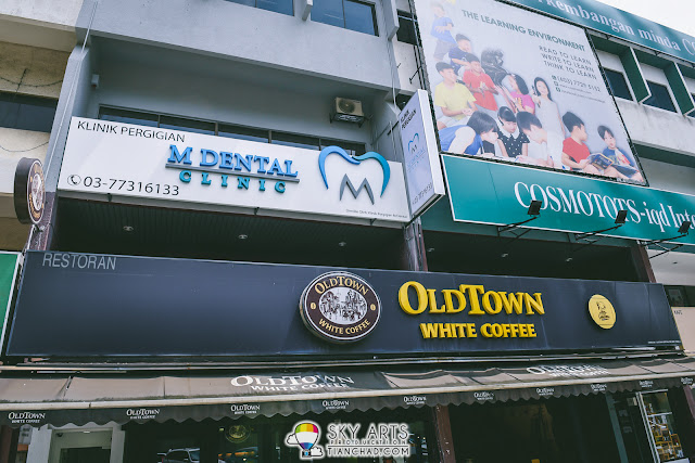 M Dental Clinic located at Damansara Utama (right above Old Town White Coffee Restaurant)