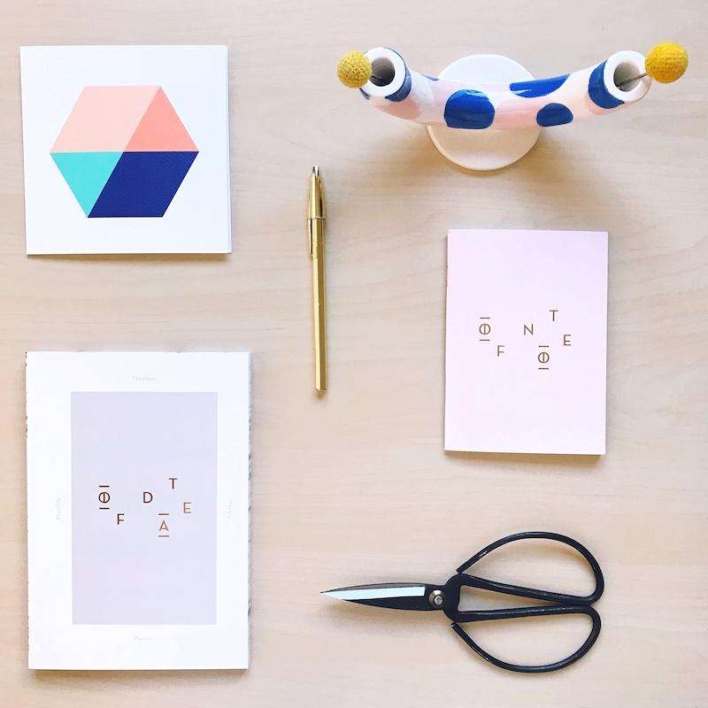 papelería minimalista