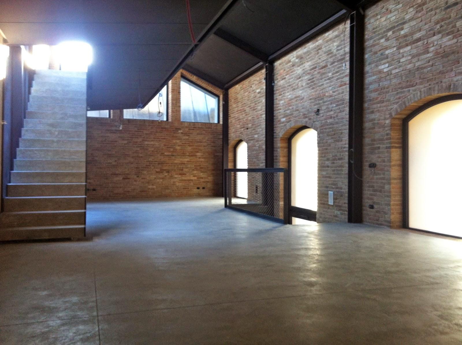 pareti in mattoni di recupero loft brescia