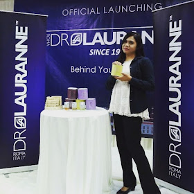 Blogger Qiya Saad dalam Majlis Pra-Pelancaran Produk Kecantikan Dr Lauranne Malaysia