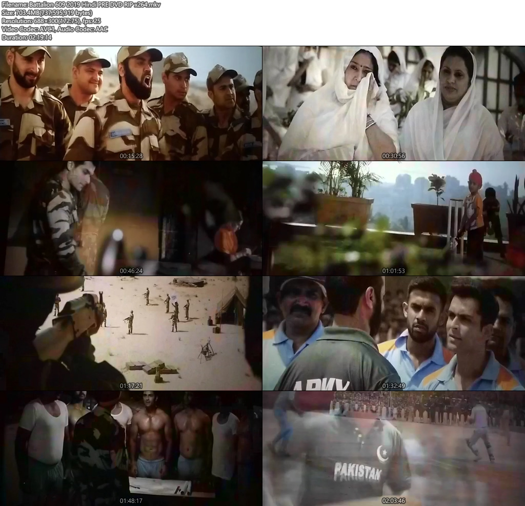 Battalion 609 2019 Hindi PreDvDRip x264 | 480p 300MB | 100MB HEVC Screenshot
