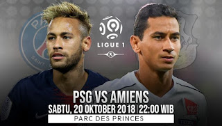 Paris Saint Germain vs (PSG) Amiens Live Streaming Today 20-10-2018 French Ligue 1