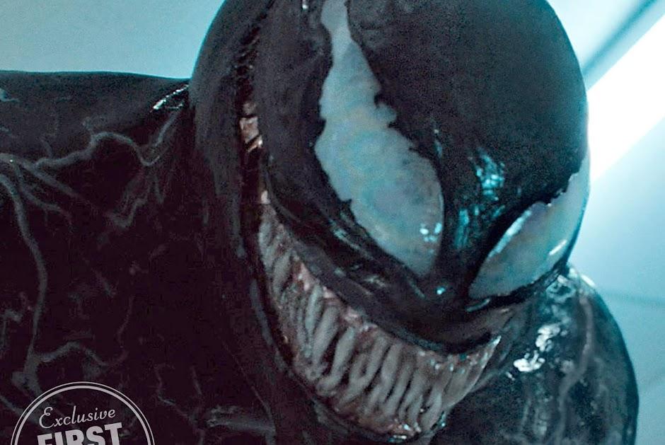 """Imagens inéditas de """"Venom"""" revelam o terrível sorriso do simbionte"""