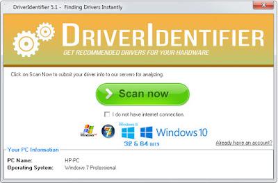 تحميل برنامج DRIVER IDENTIFIER للبحت عن تعريفات جهازك coobra.net