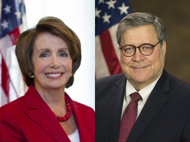 US Speaker Nancy Pelosi has blamed the Attorney General William Barr for lying to Congress. - rictasblog