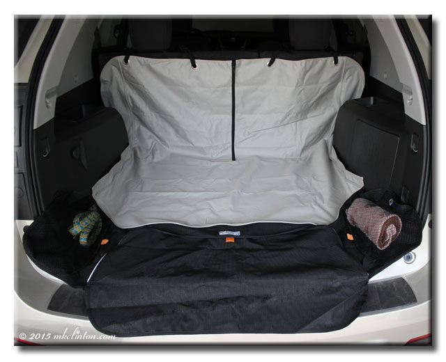 Kurgo Cargo Cape displayed in cargo area of SUV