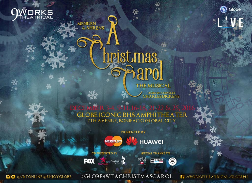 A Christmas Carol the Musical by Globe Live and 9 Works Theatrical