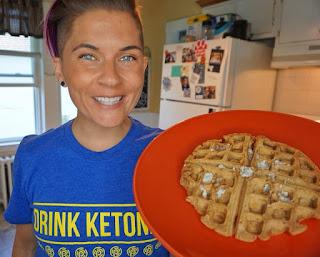 keto waffles, waffle recipe, low carb waffle, vegan waffle, ketogenic recipes, low carb breakfast, keto breakfast, jaime messina, ketones, pruvit