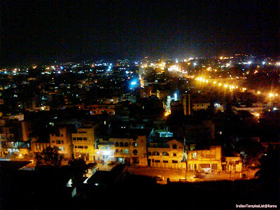 Vijayawada City View at Night from Indrakeeladri Kanaka Durga Temple