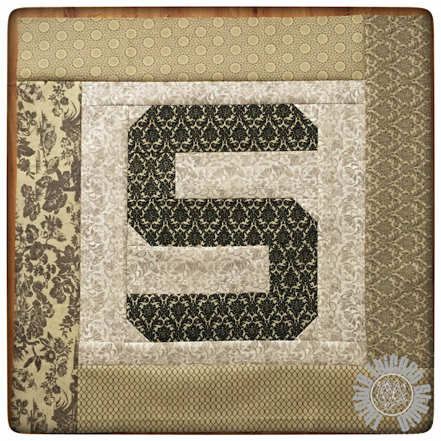 Spell It With Moda Fabric! Monogram Pillow Tutorial by Thistle Thicket Studio. www.thistlethicketstudio.com