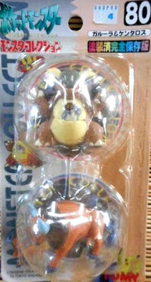 Tauros Pokemon figure Tomy Monster Collection series