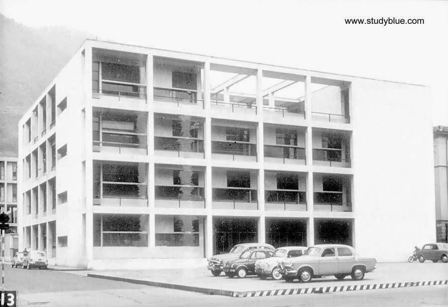 Casa del Fascio foto en blanco y negro