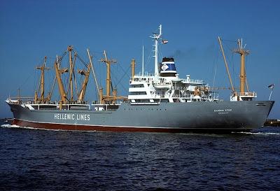 Hellenic Lines' Passenger Cargo Ship - Hellenic Star.
