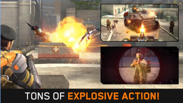 Frontline Commando Rivals v0.3.0 MOD APK Unlimited Health + Money For Android Download