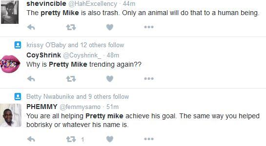 Nigerians condemn Pretty Mike for using Dog Chains on girls