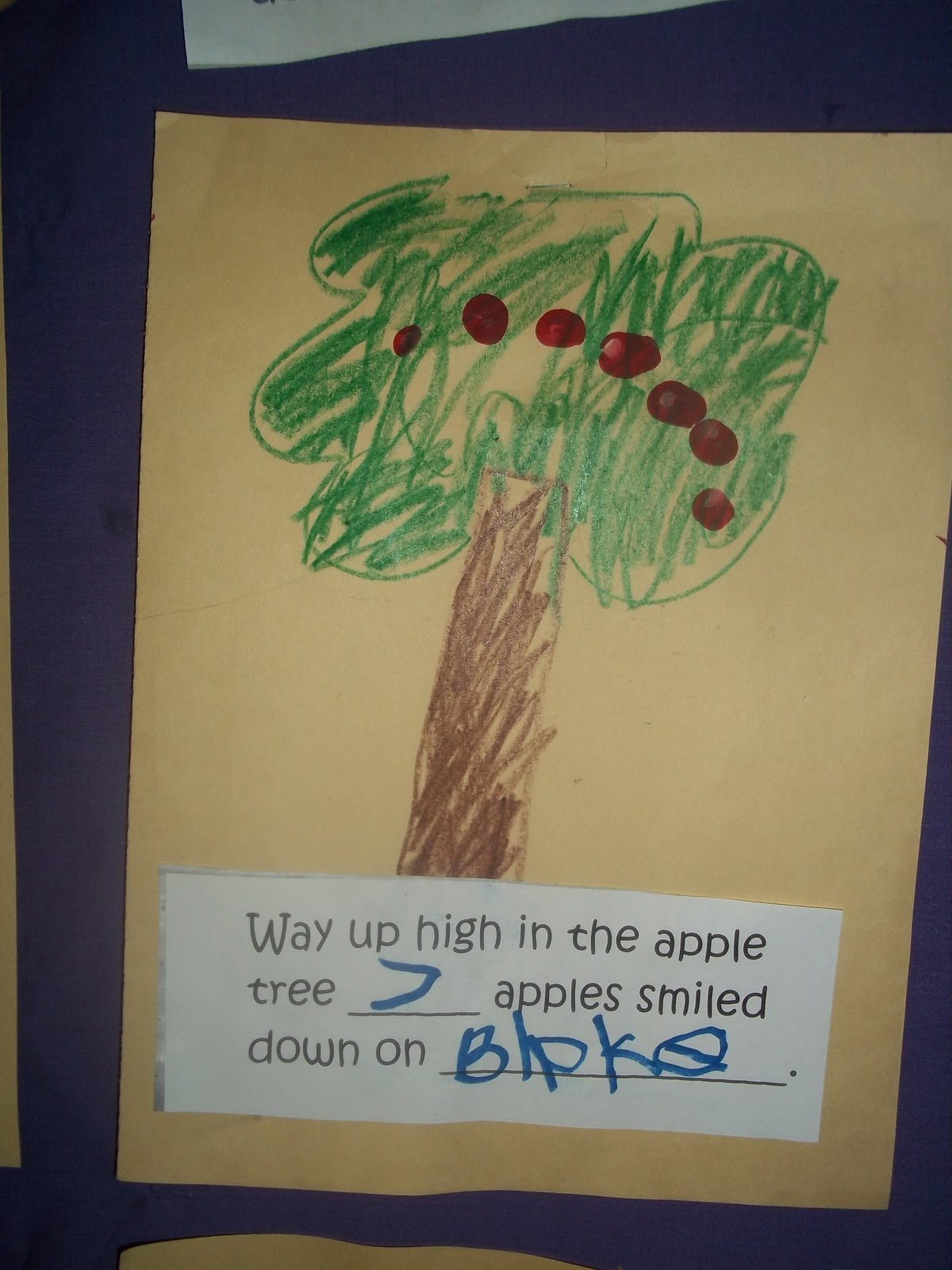 Mrs Wood S Kindergarten Class Way Up High In The Apple Tree