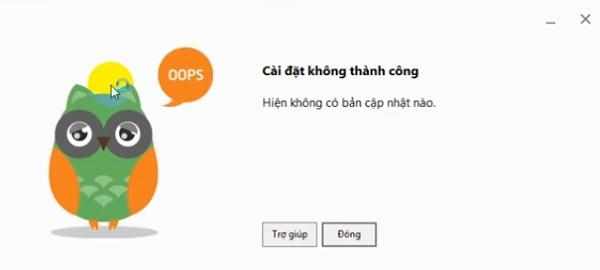 """Sửa lỗi """"Cài đặt cốc cốc không thành công"""" trên máy tính"""
