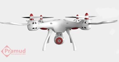 tampak depan drone syma x8sw indonesia