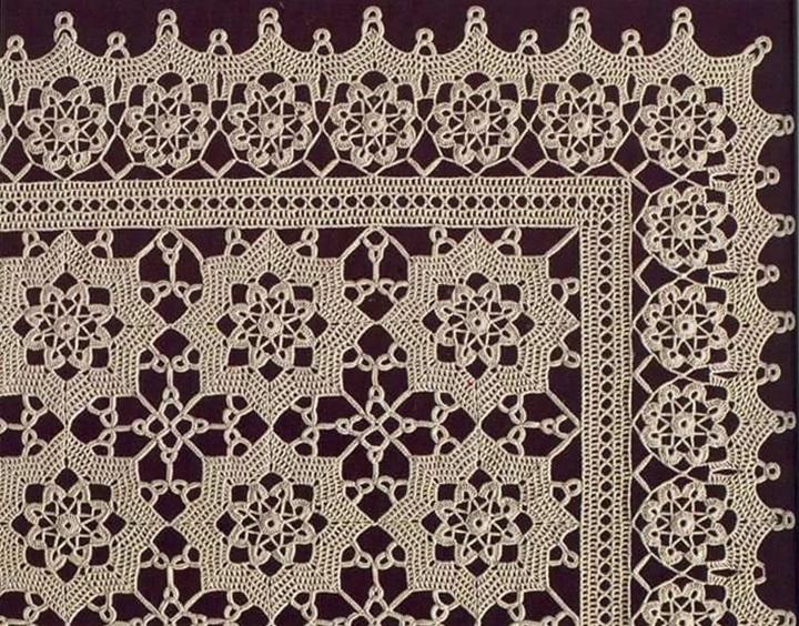 serweta szydełkowa z tutorialem i wzorem