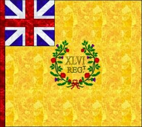 46th Regiment of Foot (Thomas Murray's)  Regimental Colour
