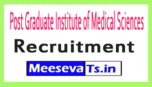 Post Graduate Institute of Medical Sciences PGIMS Recruitment