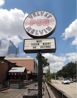 Velvet Melvin Pub (sign on patio)