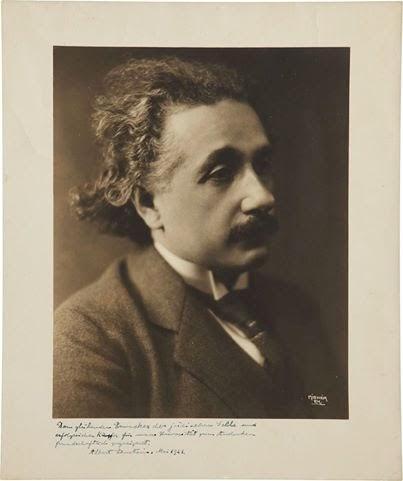 Retrato de Albert Einstein de 1921
