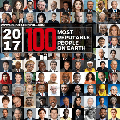 Pastor Adeboye, Bishop Oyedepo, 6 Other Nigerians Make List Of Most Reputable People On Earth 2017