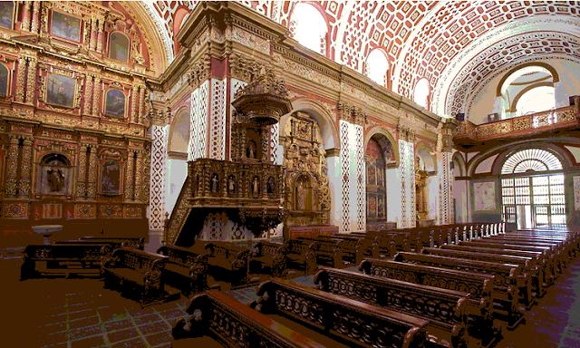 interior de la Iglesia de Guápulo