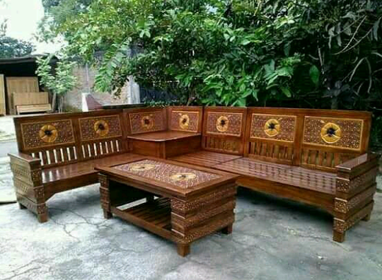 25 Desain Kursi Tamu Sudut Kayu Jati Desain Model Furniture