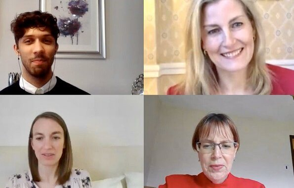 Countess of Wessex joined a series of video conferences with the National Autistic Society and International Civil Society Network