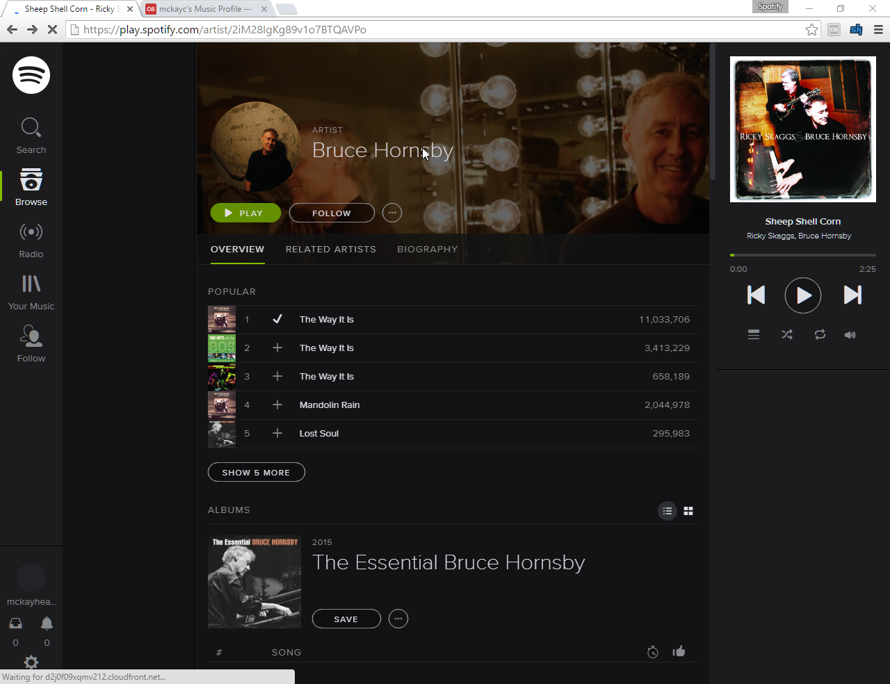 Here is a Spotify player available on all platforms (Windows