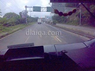 di dalam bus jurusan Bakauheni - Rajabasa, Lampung