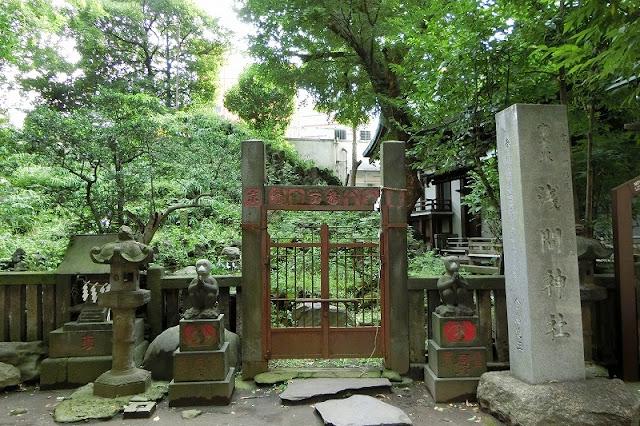 小野照崎神社の富士塚