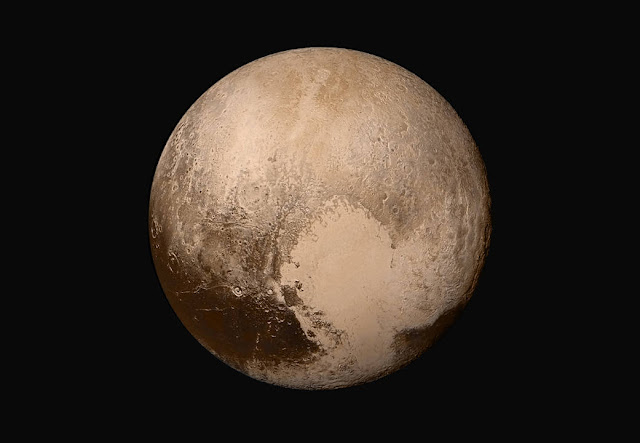 Global Mosaic of Pluto in True Color
