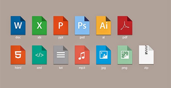 Doc style icons PSD