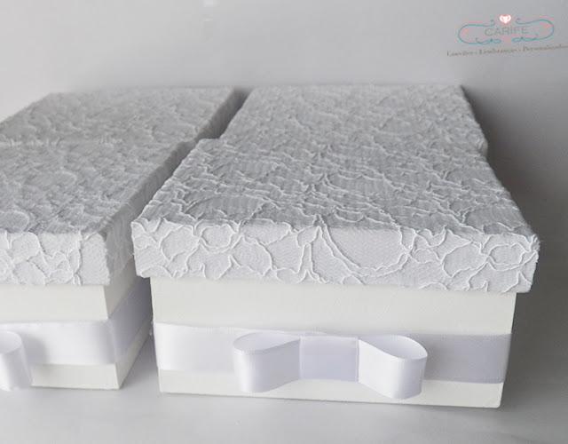 caixa lembrancinha de casamento forrada