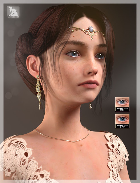 Teen Princess Leila for Genesis 3 Female