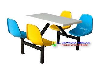harga meja dan kursi fiberglass
