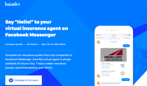 Agent d'assurance virtuel Insurify